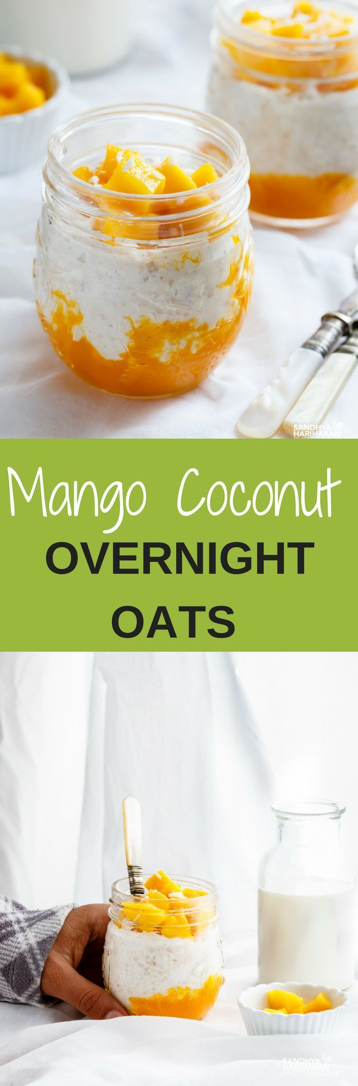 If you have Got 5 Minutes with you, These MANGO COCONUT OVERNIGHT loaded with Tropical flavours can make your deliciously easy breakfast on-the-go!