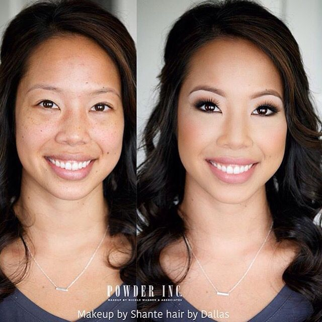 "{REPOST from @powderincmakep} ""Absolutely LOVE this makeup and hair. #powderinc artist Shante and my dear artist friend Dallas (who does contract work for Powder from time to time) created this BEAUTIFUL bridal look on stunning Anna today. We were all obsessed with her Natural beauty!! All our Vietnamese brides are GORGEOUS! Seriously!  ""  Always sparkling client's eyes with our pre-set (cluster) eyelash extensions.  ShopEyemimo.com/eyelash extensions"