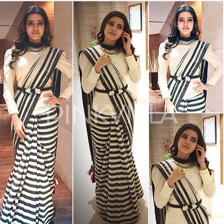 "38 Likes, 5 Comments - House Of 2 (@house_of_2) on Instagram: ""Classic Samantha zebra saree To purchase this product mail us at houseof2@live.com or whatsapp us…"""