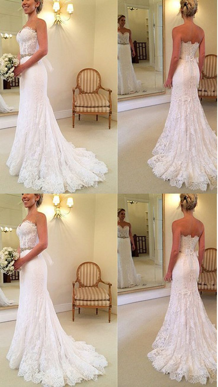 New Arrival A-Line Sexy Wedding Dresses,Long Wedding Dresses,Backless Wedding Dresses On Sale, W09