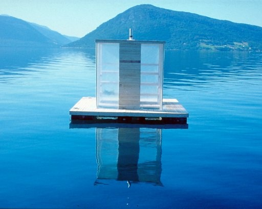 Floating Sauna, Rosendal, Norway  by: Marco Casagrande