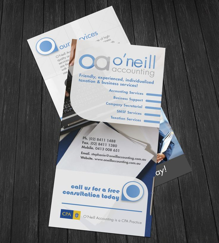 O'Neill Accounting brochures
