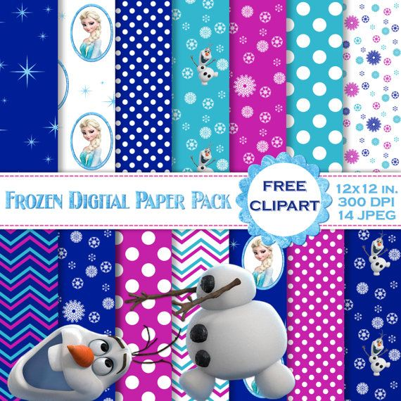 Hey, I found this really awesome Etsy listing at https://www.etsy.com/listing/192128146/frozen-digital-paper-printable-scrapbook