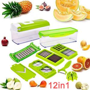 OZ A Food Slicer Dicer Nicer Container Chopper Peeler Vegetable Fruit Cutter | eBay