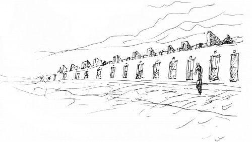 Sketch Malagueira housing by Siza Vieira
