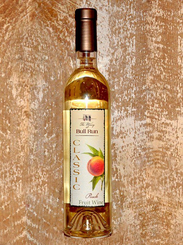 Winery at Bull Run Peach Fruit wine, Wine bottle, Wine