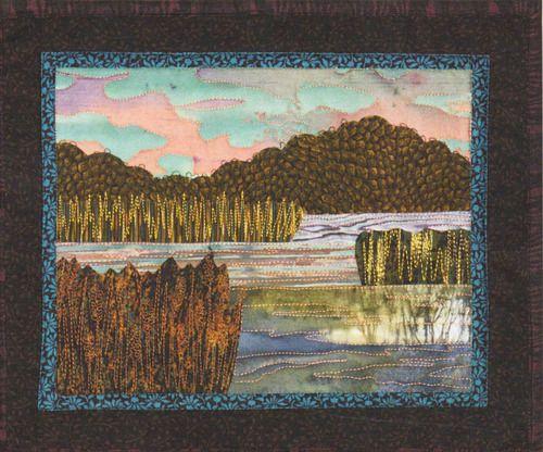 Serene Marsh - Bella Vista Landscape Vignettes by Helene Knott - Applique Pattern -