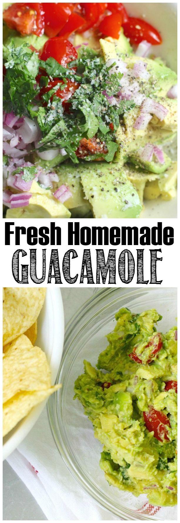 Fresco, ricetta guacamole fatta in casa.  Yummy !!