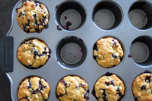 No sugar blueberry muffins (sweetened with honey) | Recipe ...