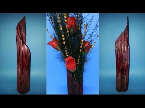 How to make a flower vase - YouTube
