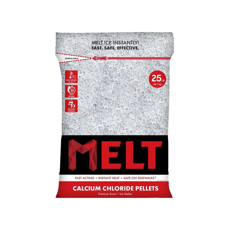 Snow Joe Calcium Chloride Ice Melt Pellets - 25 LB, Off White