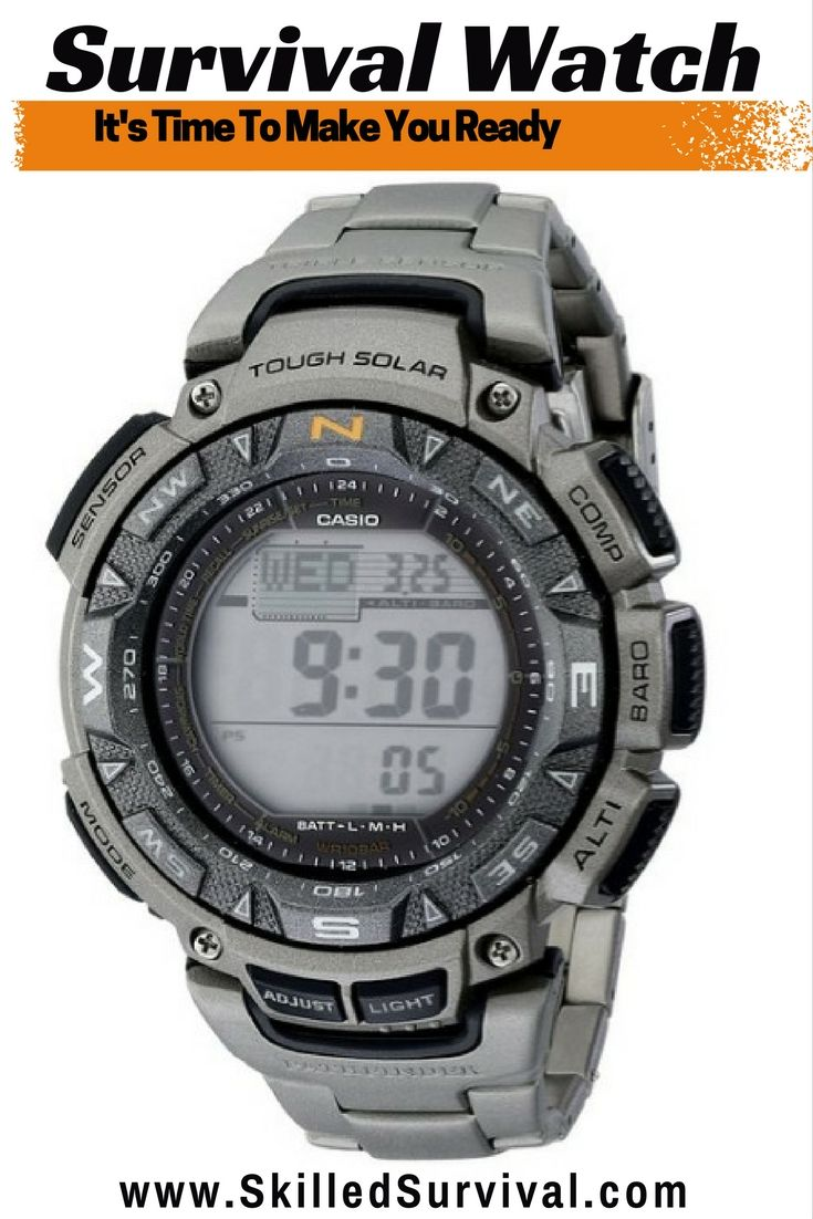 It's Time You Invested In A Quality Survival Watch. At A Minimum, You Should Get One With Advanced Sensors, One That Can Take Wilderness Abuse, and Is Powered By The Sun.