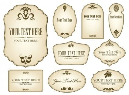 free vector labels
