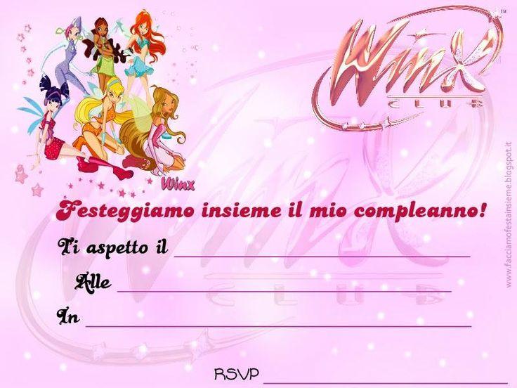 Winx: invito di compleanno.