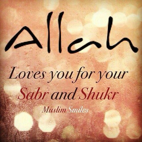 Sabr and shukr | I Islam | Allah quotes, Allah, Islam quran