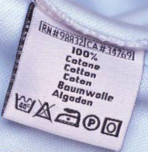 Что означают знаки, значки и символы на ярлыках и бирках  одежды или белья, как правильно стирать, чистить, сушить и гладить ткани и бельё