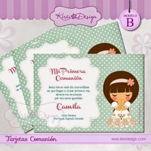 Recordatorios de primera comunion para imprimir gratis - Como hacer tarjetas para comunion ...