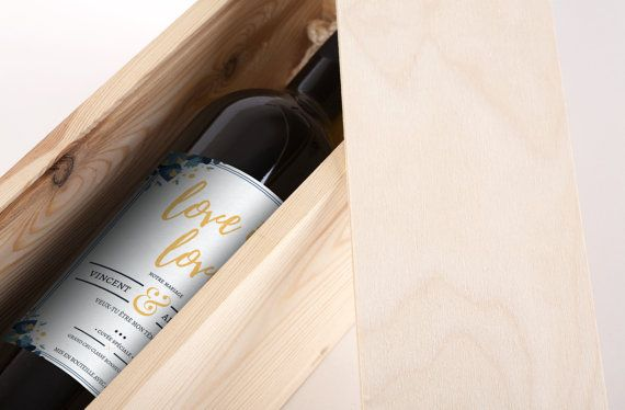 Étiquette de vin personnalisée  Mariage  Mon par MonVinPersonnalise