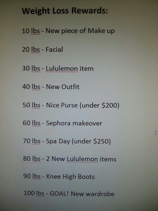 My weight loss rewards! 10 lb increments :) I've also been ...