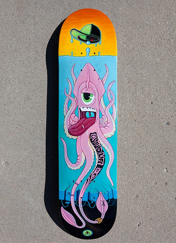 Squid Life by jerimy brown, via Behance