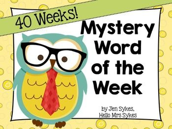 Mystery Word of the Week, 40 Week Set for All Year - Download the preview for 2 free weeks to use in your classroom!  Love to use this to boost vocabulary in Upper Elementary classrooms!  :)