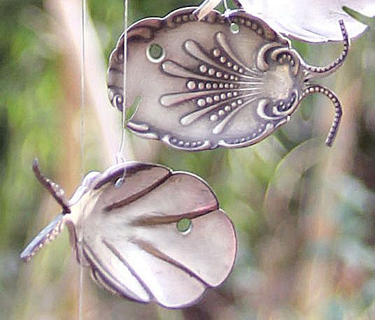 ornate spoon fish wind chimes,