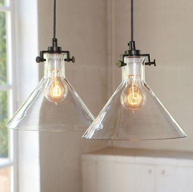 AF kitchen island pendants - would look great for vintage flair