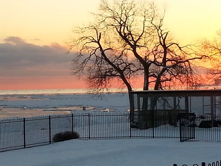 Winter Sunset at Wilmot Creek. Discover great living at: www.wilmotcreek.ca