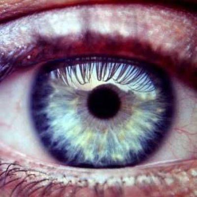Mooi blauw oog