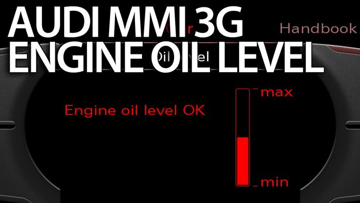 How to activate oil level gauge #Audi MMI 3G (A1 A4 A5 A6 A7 A8 Q3 Q5 Q7)