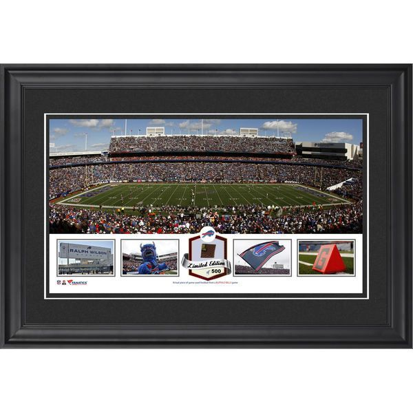 Buffalo Bills Fanatics Authentic Framed Ralph Wilson Stadium Panoramic Collage with Game-Used Football - Limited Edition of 500 - $99.99