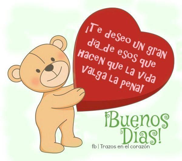 ¡Te deseo un gran día...de esos que hacen que la vida valga la pena! ¡Buenos Días!  @trazosenelcorazon
