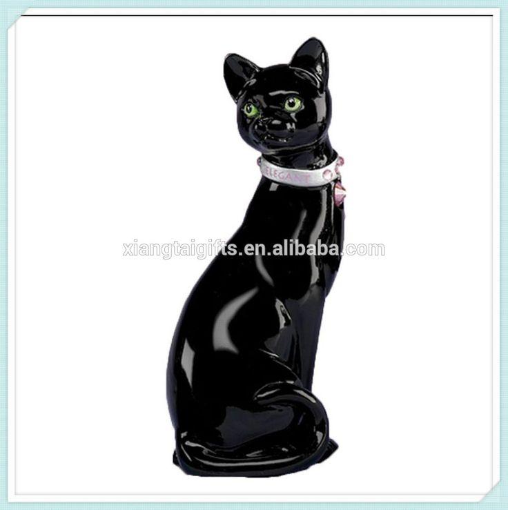 Оптовая продажа eloquently элегантный черный смолы кошка статуэтка-изображение-Ремесла из смола-ID продукта:60242325528-russian.alibaba.com