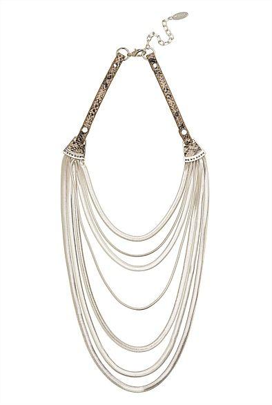 Multiple Flat Chain Necklace #witcherywishlist