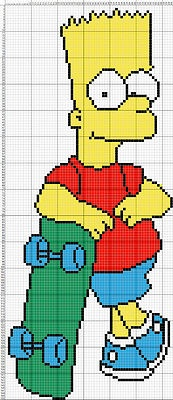 Bart Simpson cross stitch...easy to convert to a graph!
