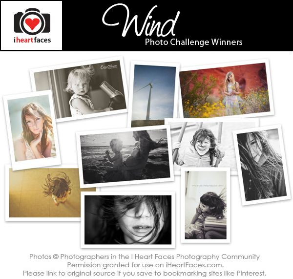 April Photo Challenge Winners | Wind | I Heart Faces