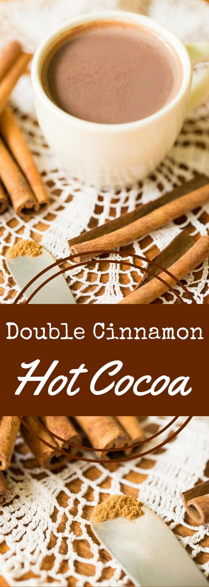 Two kinds of cinnamon plus cocoa equals the best cinnamon hot chocolate (or cinnamon hot cocoa) you've ever had. Rich, complex, and satisfying.  Sponsored by ZonePerfect. #ZonePerfect #everydaywins