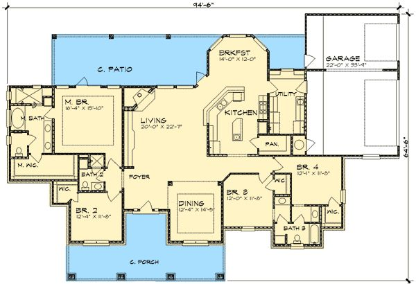 Hill Country Home Plan