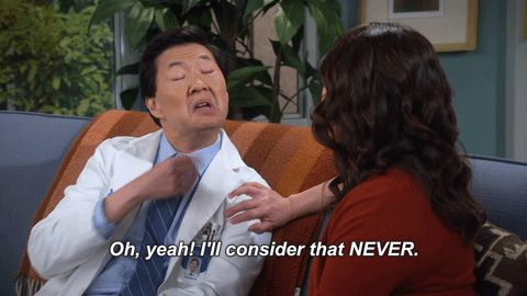 nope laughter ken jeong suzy nakamura dr ken nny oh yeah ill consider that never allison park #humor #hilarious #funny #lol #rofl #lmao #memes #cute