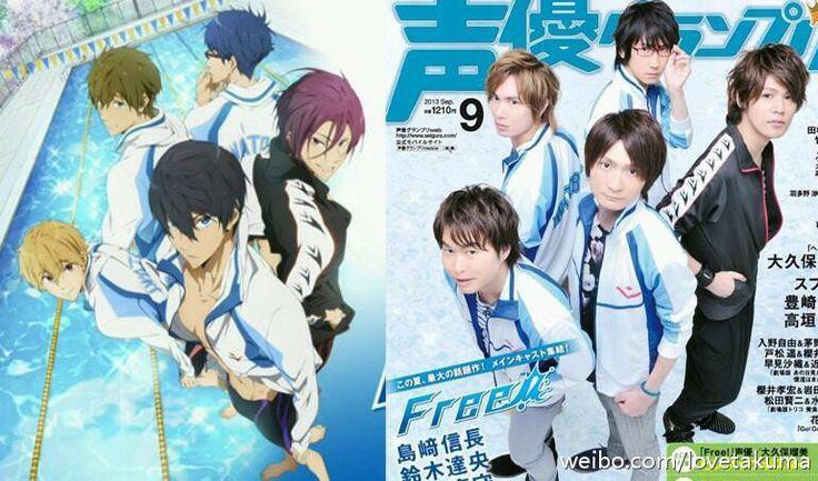 Free! ~~ Seiyuus :: Shimazaki Nobunaga (Nanase Haruka), Suzuki Tatsuhisa (Tachibana Makoto), Miyano Mamoru (Matsuoka Rin), Yonaga Tsubasa (Hazuki Nagisa), Hirakawa Daisuke (Ryugazaki Rei)