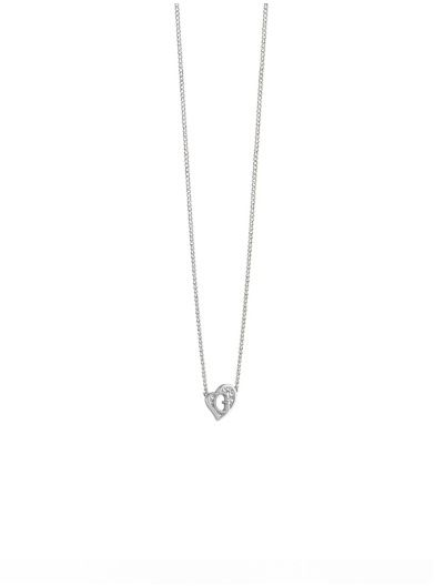 G Hearts rhodium-plated Necklace