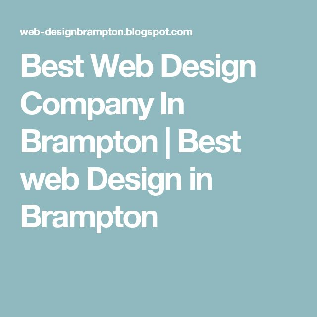 Best Web Design Company In Brampton | Best web Design in Brampton