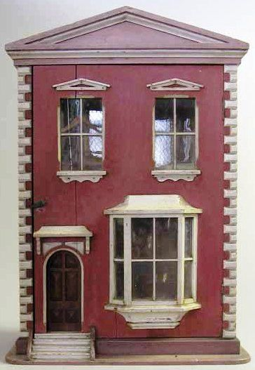 Dollhouse   Wood 2-Story Bay Window Arched Door
