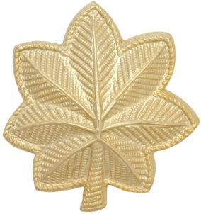 AIR FORCE RANK INSIGNIA: MAJOR - 22K GOLD PLATED