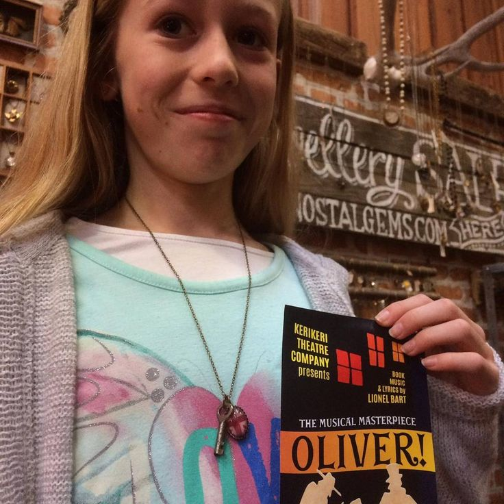 """7 Likes, 1 Comments - Nostalgems (@nostalgems) on Instagram: """"Young actor playing Oliver at local theatre shows off her 'Oliver' necklace. #nostalgems #oliver…"""""""
