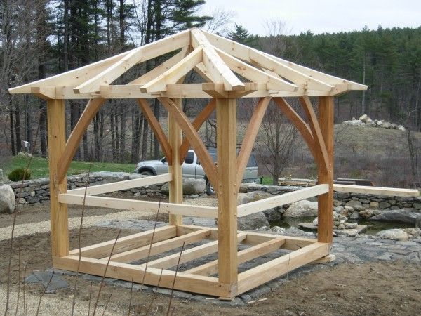 Japanese timber frame plans curving hip and jack for Japanese pergola plans