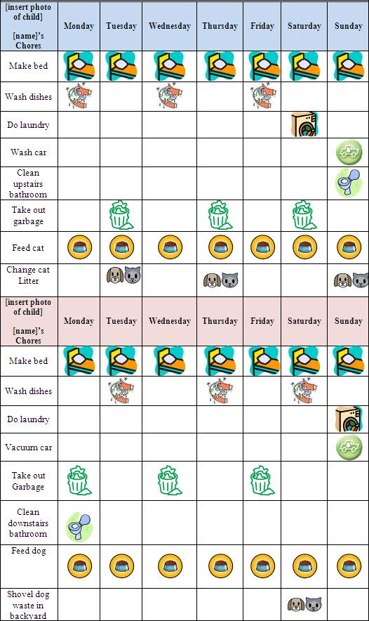 9 Best Allowance Charts Images On Pinterest | Allowance Chart