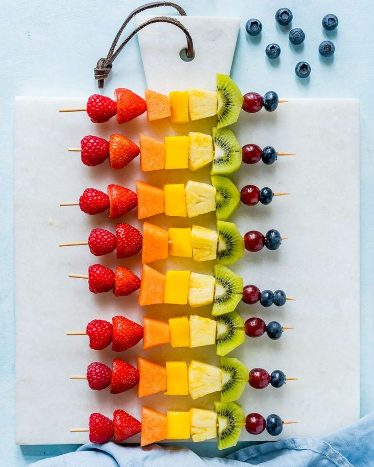 Make these Creative Rainbow Fruit Skewers for Summer Fun! - Clean Food Crush