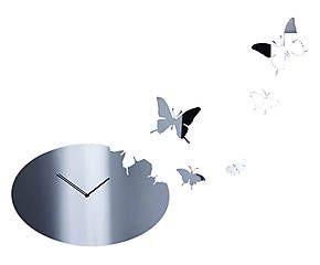 Orologio da parete in acciaio specchiato Butterfly ovale - Diametro: 48 cm