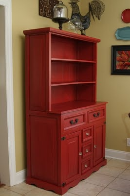 In love with this painted hutch... all her painted furniture is beautiful!